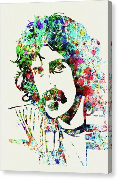 Frank Zappa Canvas Print - Legendary Frank Zappa Watercolor by Naxart Studio