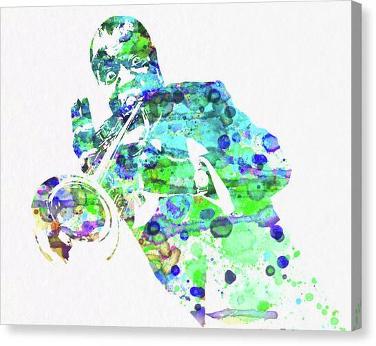 Legend Canvas Print - Legendary Louis Armstrong Watercolor  by Naxart Studio