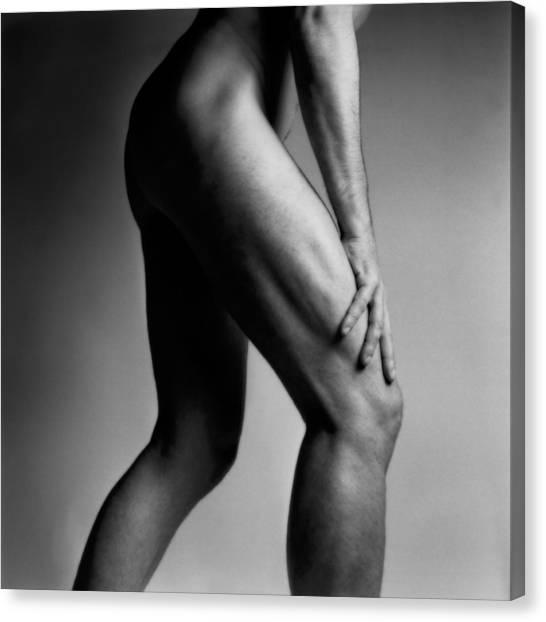 Legs Of Nude Man Canvas Print by Bernard Jaubert
