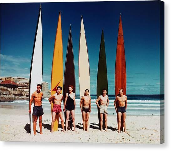 Leisure. Sport. Pic 1948. Bondi Beach Canvas Print by Popperfoto
