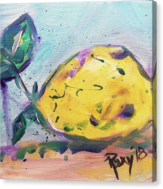Farmhouse Canvas Print - Lemon Drop by Roxy Rich