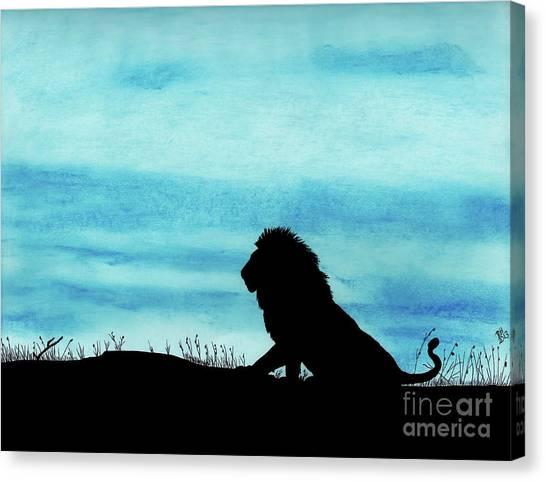 Leo At Sunset Canvas Print