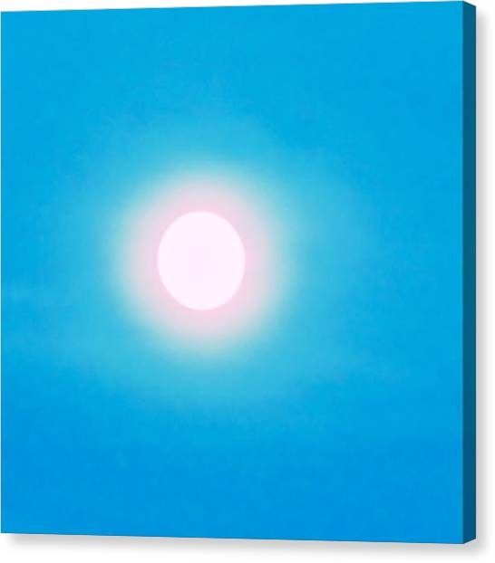 Canvas Print featuring the photograph Leo Blue Moon In Turquoise by Judy Kennedy