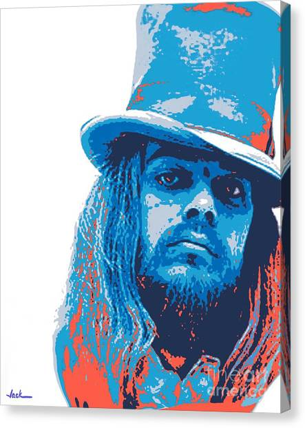 Leon Russell Canvas Print - Leon Russell by Jack Bunds