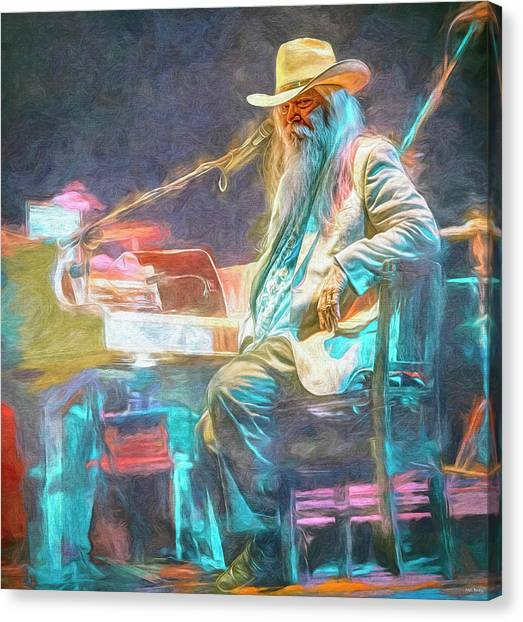 Leon Russell Canvas Print - Leon Russell by Mal Bray