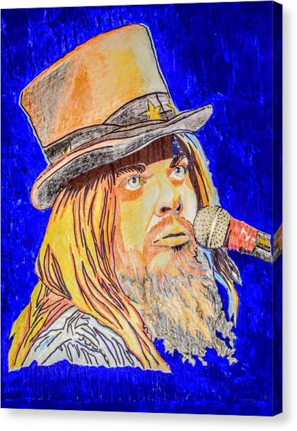 Leon Russell Canvas Print - Leon Russell by Reyna Brown