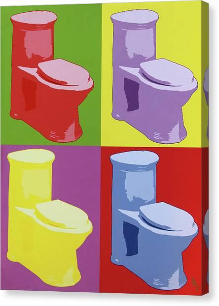Les Toilettes  Canvas Print