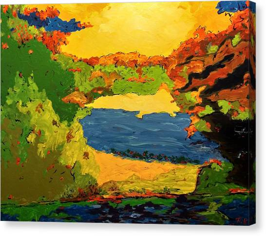 Canvas Print featuring the painting Lesson From Nature by Ray Khalife
