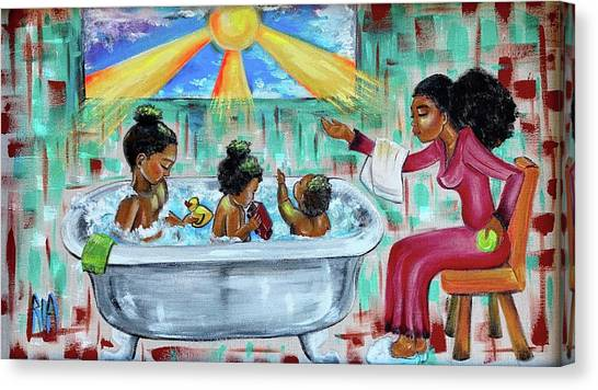 Canvas Print - Lessons From Mommy by Artist RiA