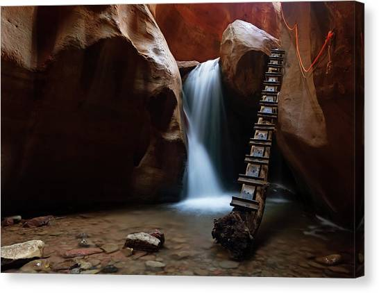 Canvas Print featuring the photograph Let It Flow by Tassanee Angiolillo