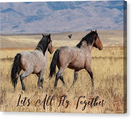 Let's All Fly Together Canvas Print