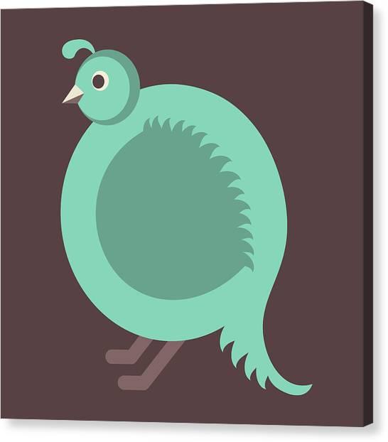 Letter Q - Animal Alphabet - Quail Monogram Canvas Print