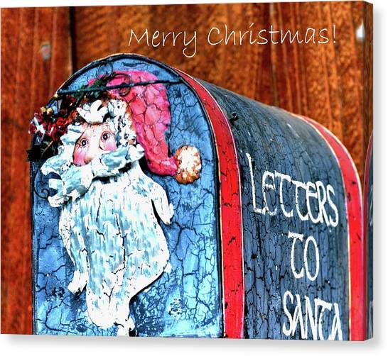 Canvas Print featuring the photograph Letters To Santa Greeting by Jerry Sodorff
