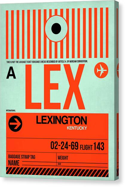 Kentucky Canvas Print - Lex Lexington Luggage Tag I by Naxart Studio