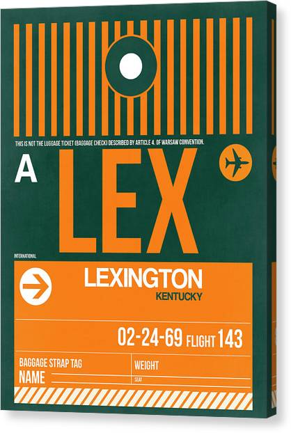 Kentucky Canvas Print - Lex Lexington Luggage Tag II by Naxart Studio