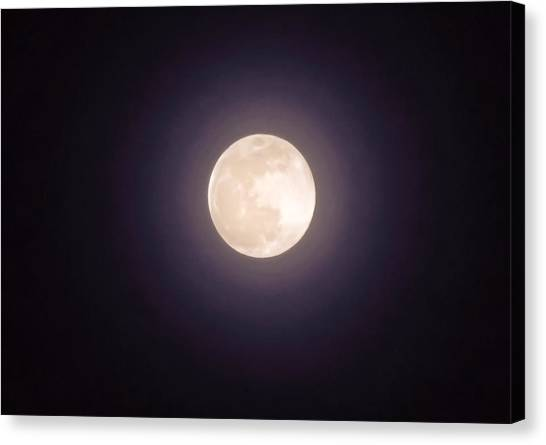 Canvas Print featuring the photograph Libra Full Moon by Judy Kennedy