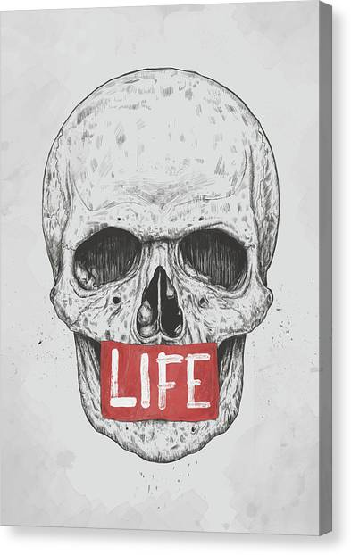 Logo Canvas Print - Life by Balazs Solti