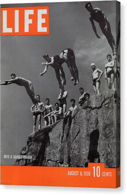 Life Magazine Cover August 8, 1938 Canvas Print