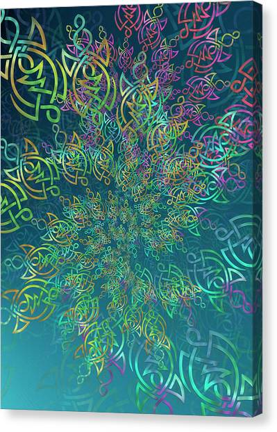 Canvas Print featuring the digital art Life by Vitaly Mishurovsky