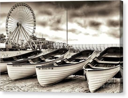 Lifeguard Boats At Wildwood New Jersey Canvas Print