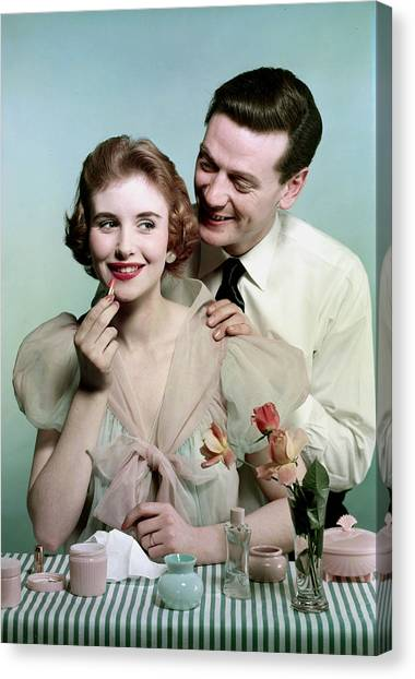 Lifestyle. Couples. Pic 1959. A Man Canvas Print by Popperfoto