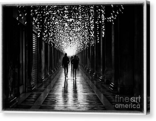 Light, Shadows And Symmetry Canvas Print