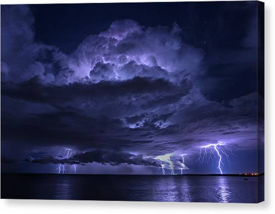Light Show At Cooke Point, Port Hedland Canvas Print