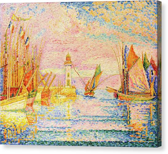 Signac Canvas Print - Lighthouse At Groix - Digital Remastered Edition by Paul Signac