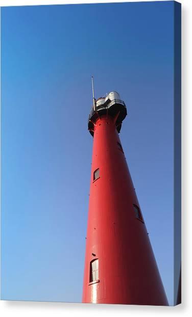 Lighthouse Of Hoek Van Holland Against Canvas Print