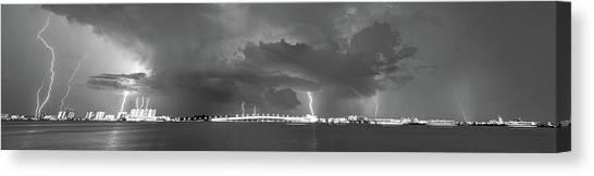 Lightning Pano Canvas Print