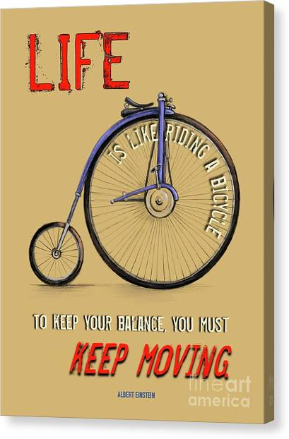 Like Riding A Bicycle Canvas Print