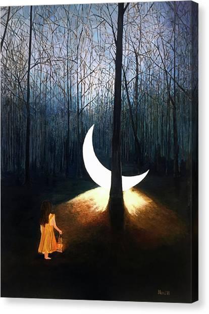 L'il Luna Canvas Print