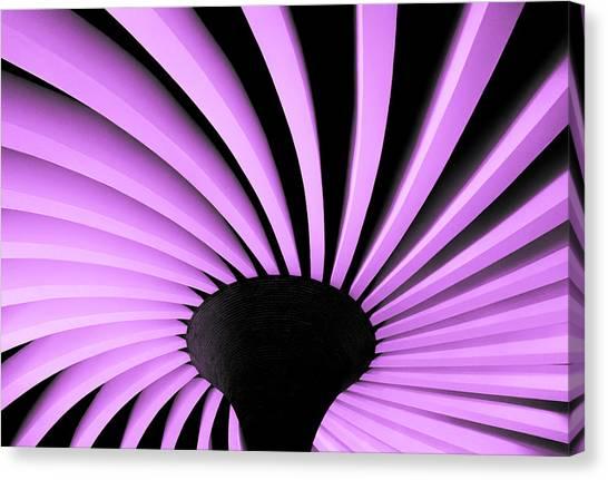 Lilac Fan Ceiling Canvas Print
