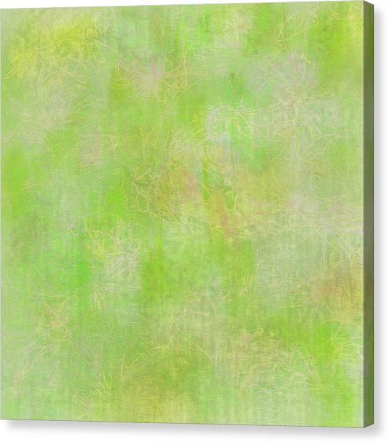 Lime Batik Print Canvas Print
