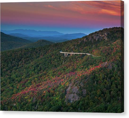Linn Cove Pink And Blue Canvas Print