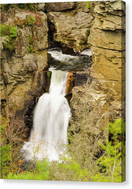 Linville Falls - Closeup Canvas Print