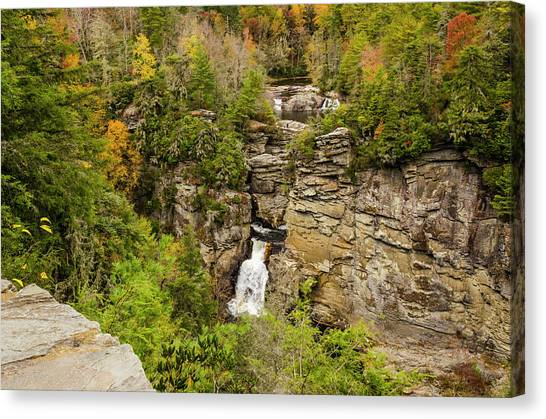 Linville Falls - Wide View Canvas Print