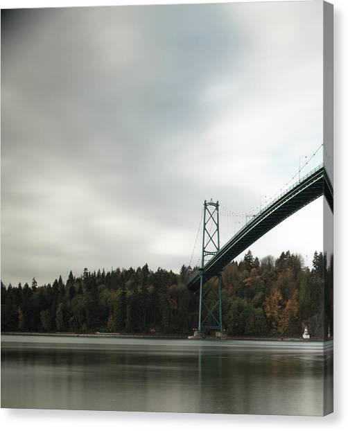 Lions Gate Bridge Vancouver Canvas Print