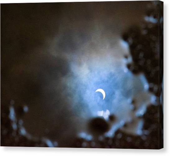 Liquified Solar Eclipse Canvas Print