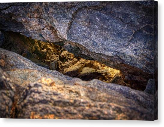 Lit Rock Canvas Print