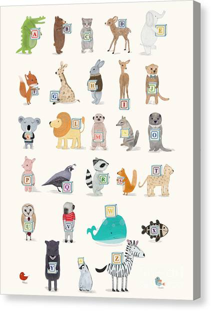Little Alphabet Canvas Print by Bri Buckley