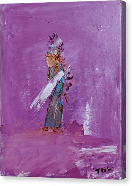 Little Indian Angel Canvas Print