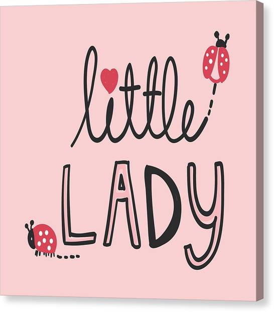 Little Lady - Baby Room Nursery Art Poster Print Canvas Print