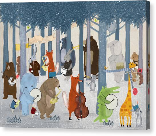 Little Nature Parade Canvas Print by Bri Buckley