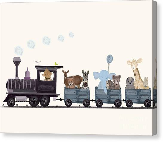 Little Nature Train Canvas Print by Bri Buckley