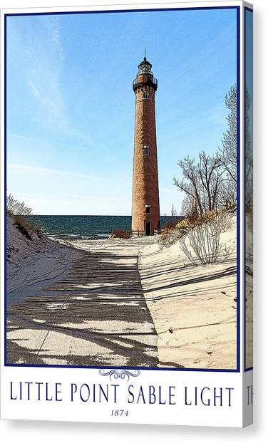 Little Point Sable Light Poster Canvas Print by Fran Riley