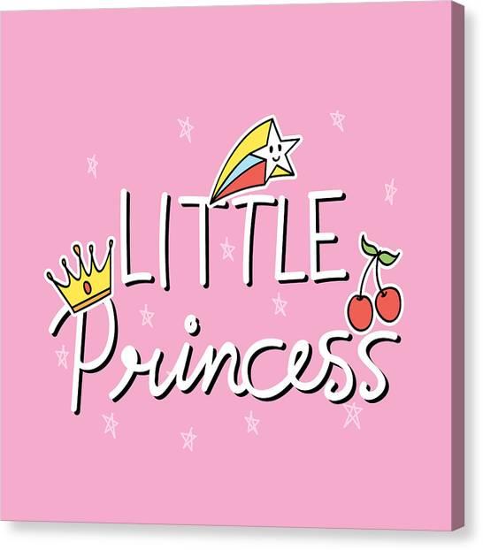 Little Princess - Baby Room Nursery Art Poster Print Canvas Print