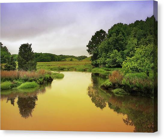 Little River Twilight Canvas Print