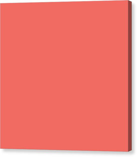 Canvas Print featuring the mixed media Living Coral - Pantone Color Of The Year 2019 by Carol Cavalaris