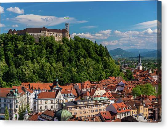 Ljubljana Slovenia Canvas Print by Keith Mcinnes Photography